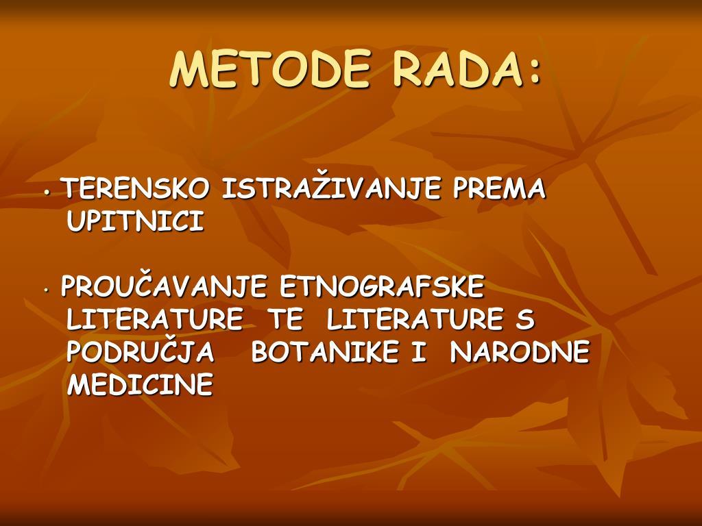 METODE RADA: