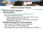 administrative points11