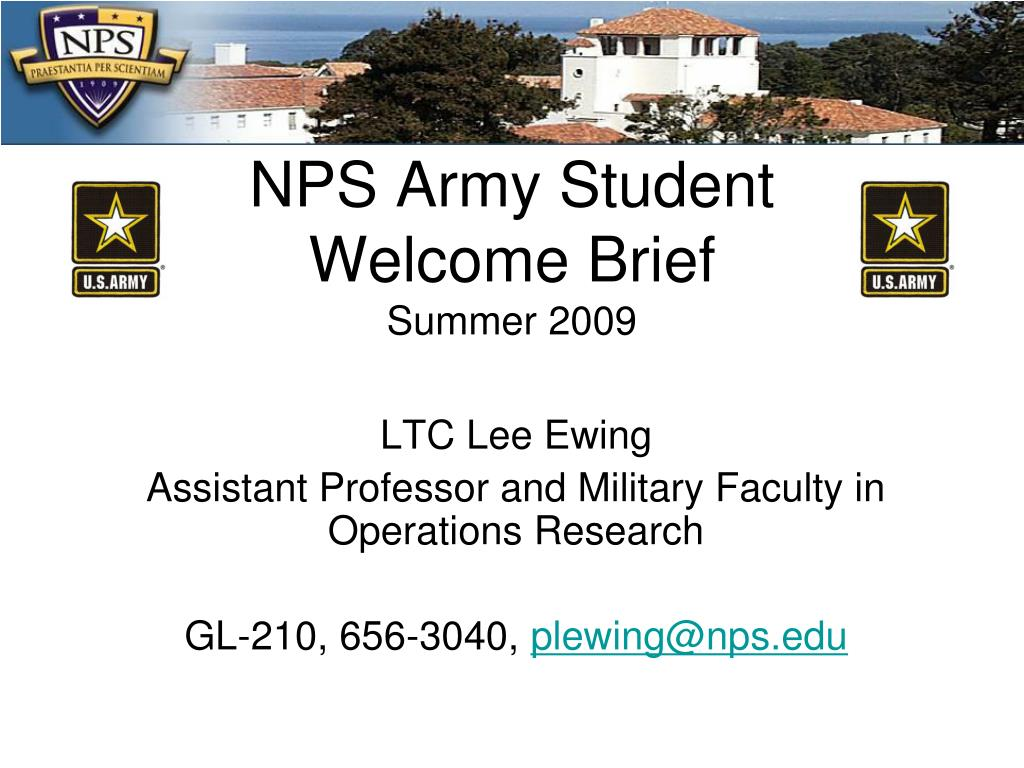 NPS Army Student