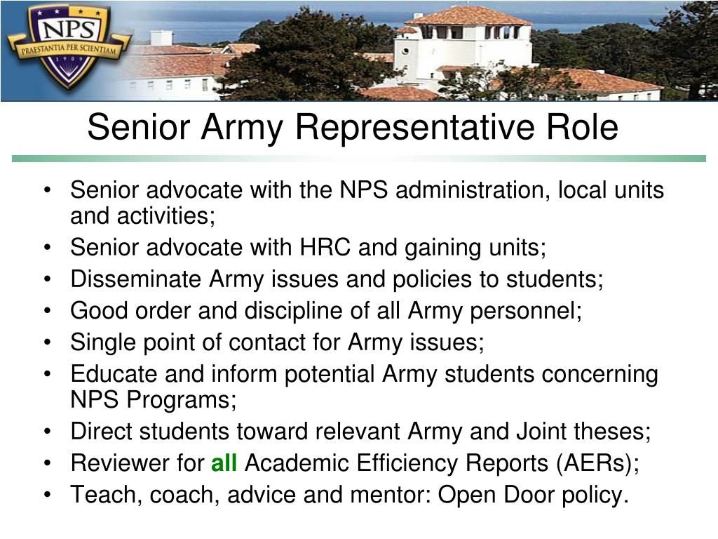 Senior Army Representative Role