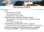 the army at nps