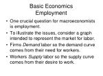 basic economics employment