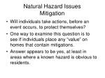 natural hazard issues mitigation22