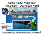 conventional wastewater treatment developed world
