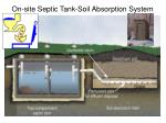on site septic tank soil absorption system