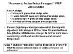 processes to further reduce pathogens pfrp class a sludge