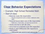 clear behavior expectations
