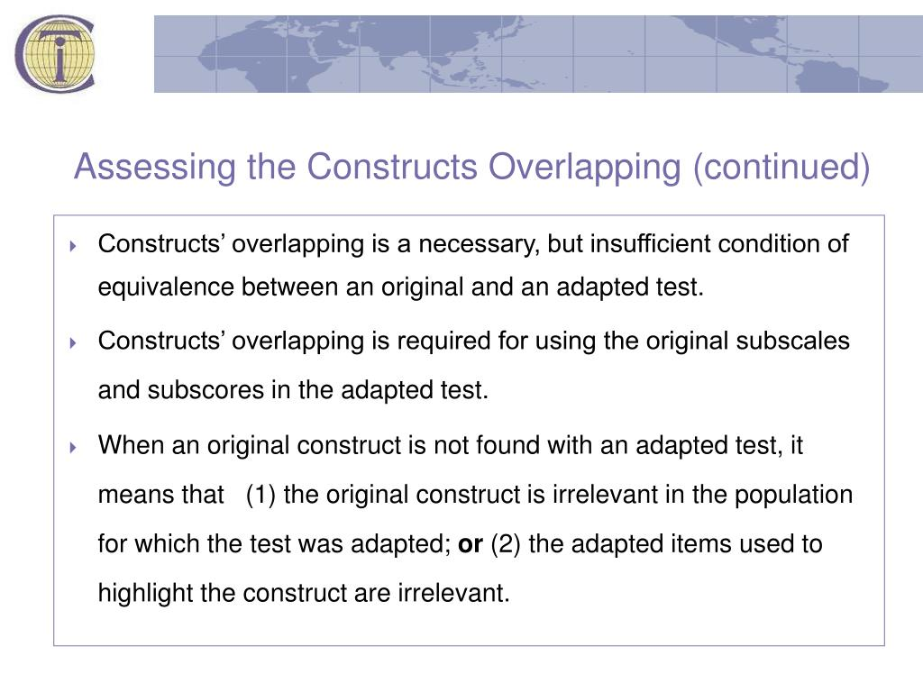 Assessing the Constructs Overlapping (continued)