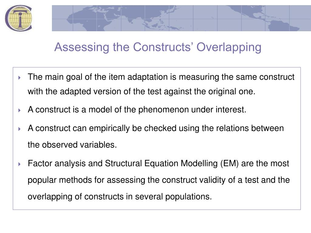 Assessing the Constructs' Overlapping