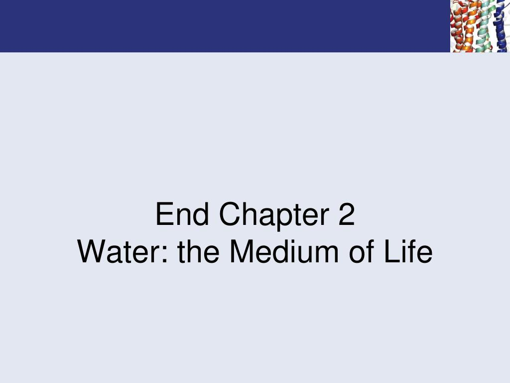 End Chapter 2