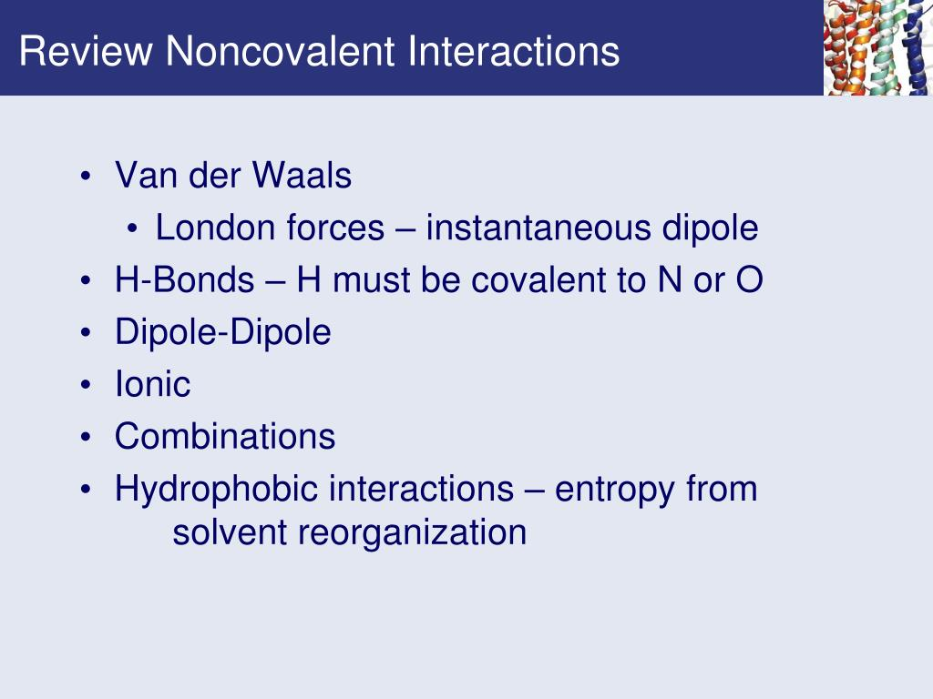 Review Noncovalent Interactions