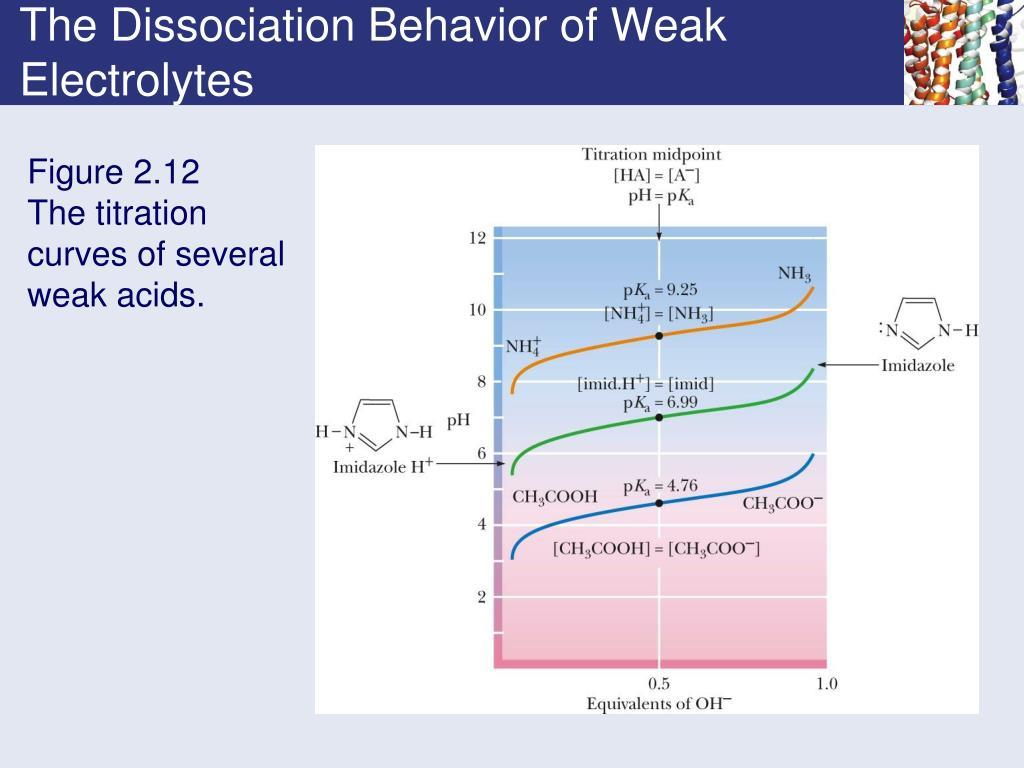 The Dissociation Behavior of Weak Electrolytes