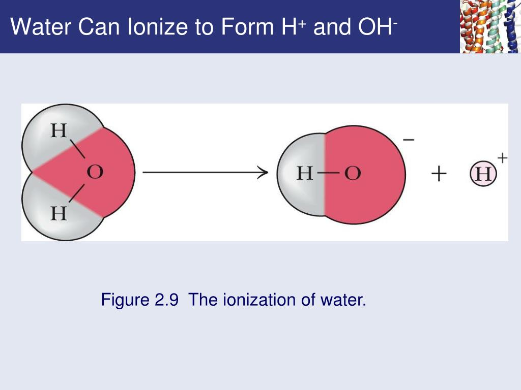Water Can Ionize to Form H