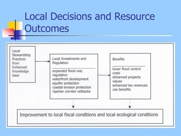 Local decisions and resource outcomes l.jpg