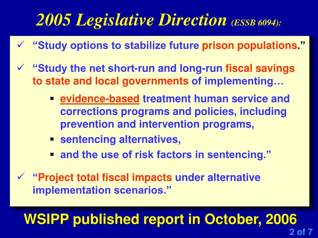 2005 Legislative Direction