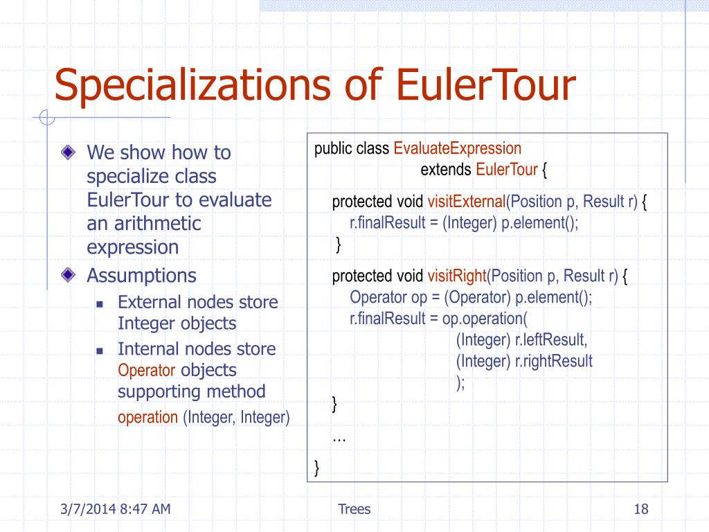Specializations of EulerTour