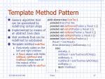 template method pattern