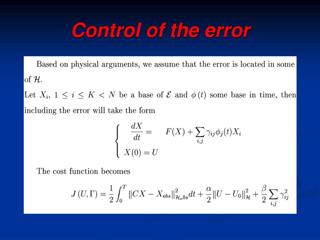 Control of the error