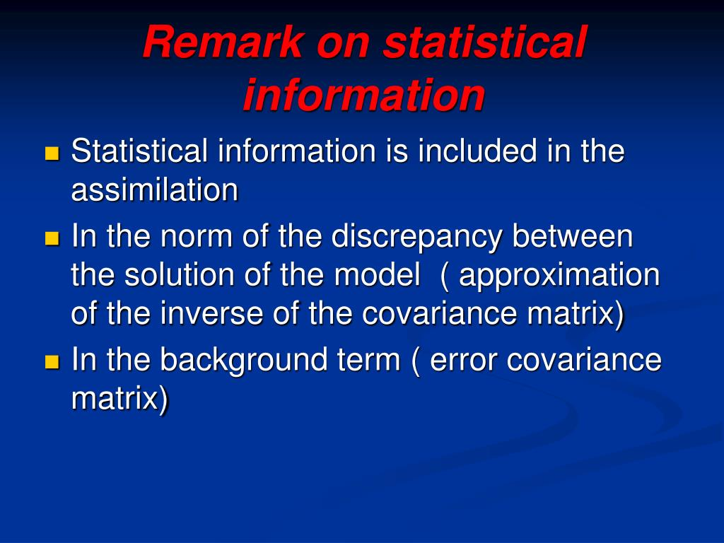 Remark on statistical  information