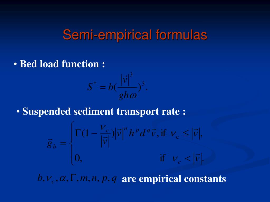 Semi-empirical formulas
