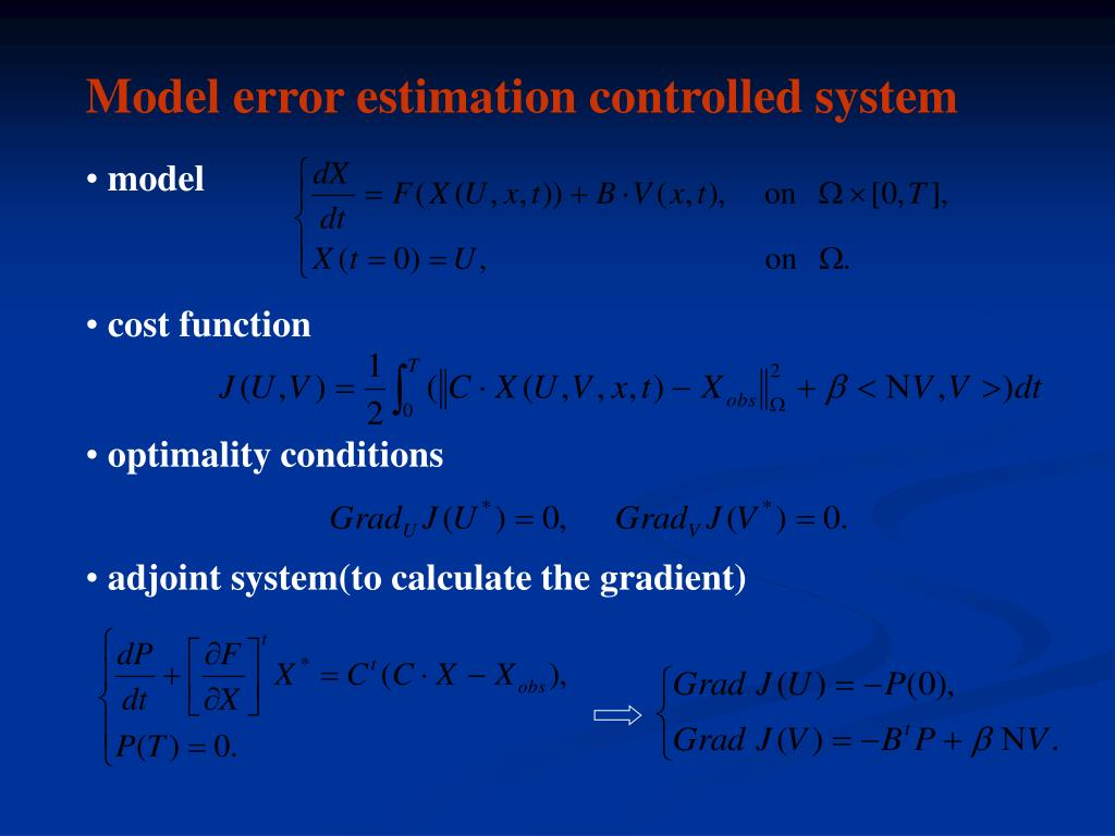 Model error estimation controlled system