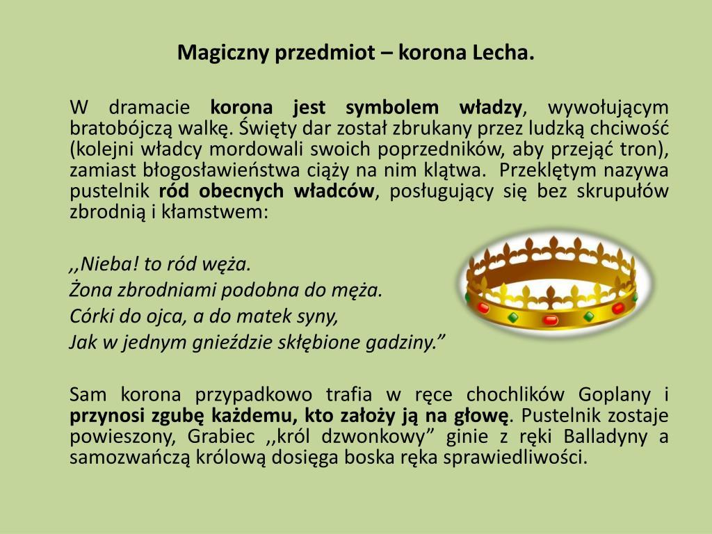 Magiczny przedmiot – korona Lecha.