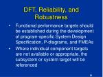 dft reliability and robustness58