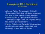 example of dft technique atpg cont