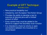 example of dft technique boundary scan