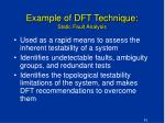example of dft technique static fault analysis