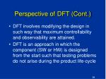 perspective of dft cont