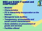 sisg and siasg it system and comprasnet