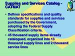 supplies and services catalog catmat