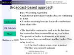 broadcast based approach65