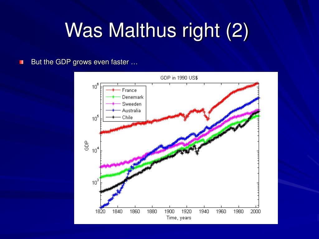 Was Malthus right (2)