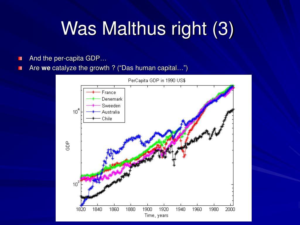 Was Malthus right (3)