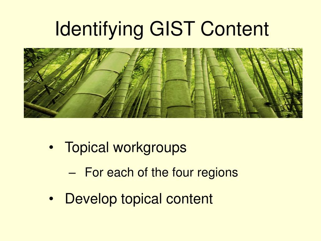 Identifying GIST Content