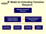model for extending transition research38
