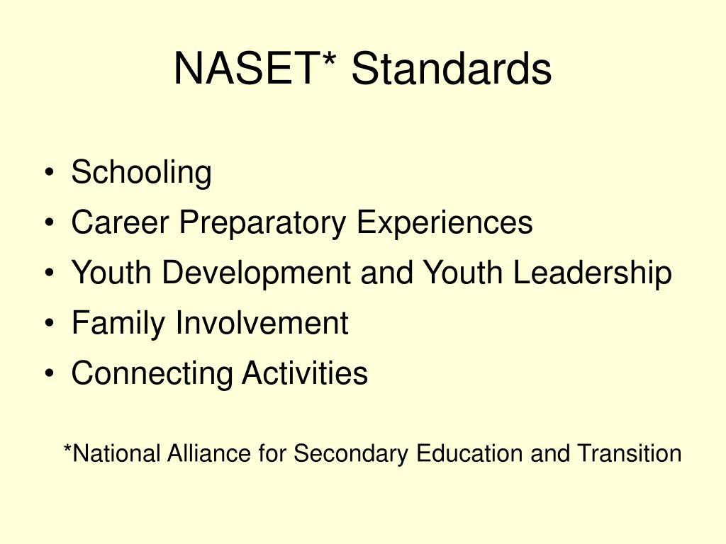 NASET* Standards