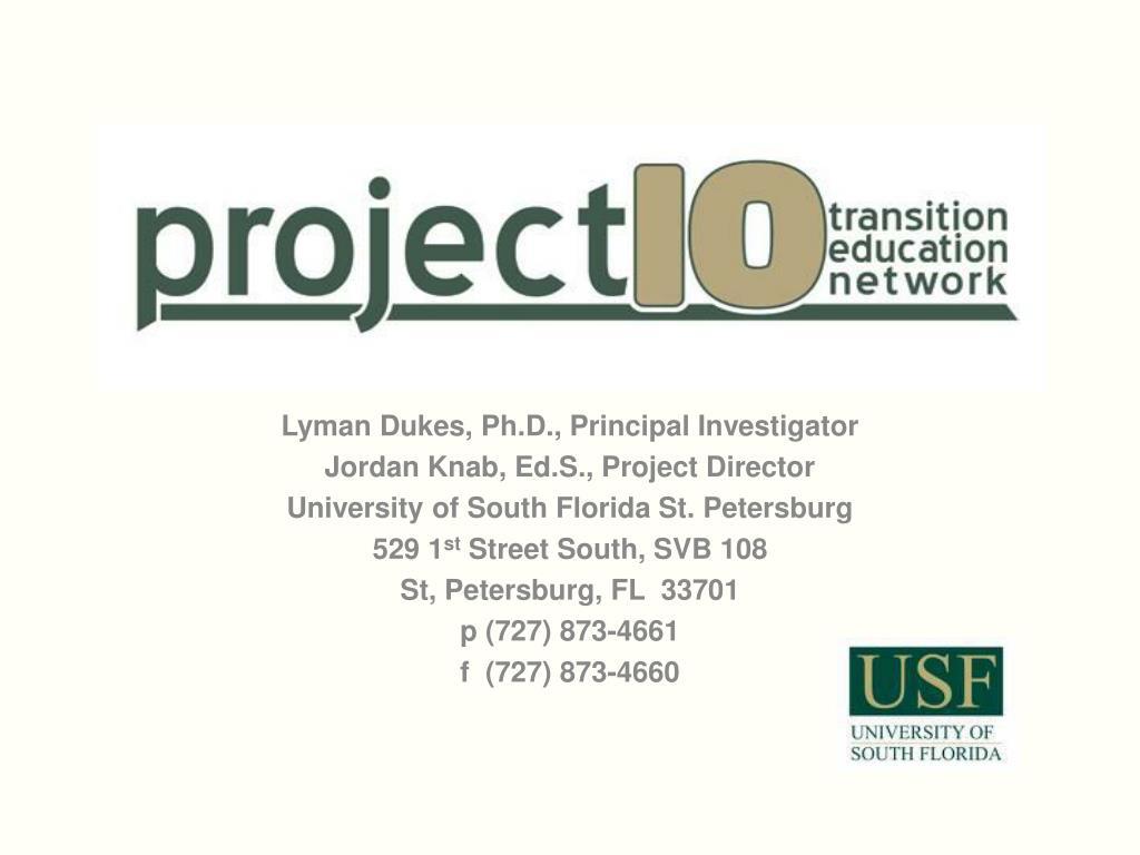 Lyman Dukes, Ph.D., Principal Investigator