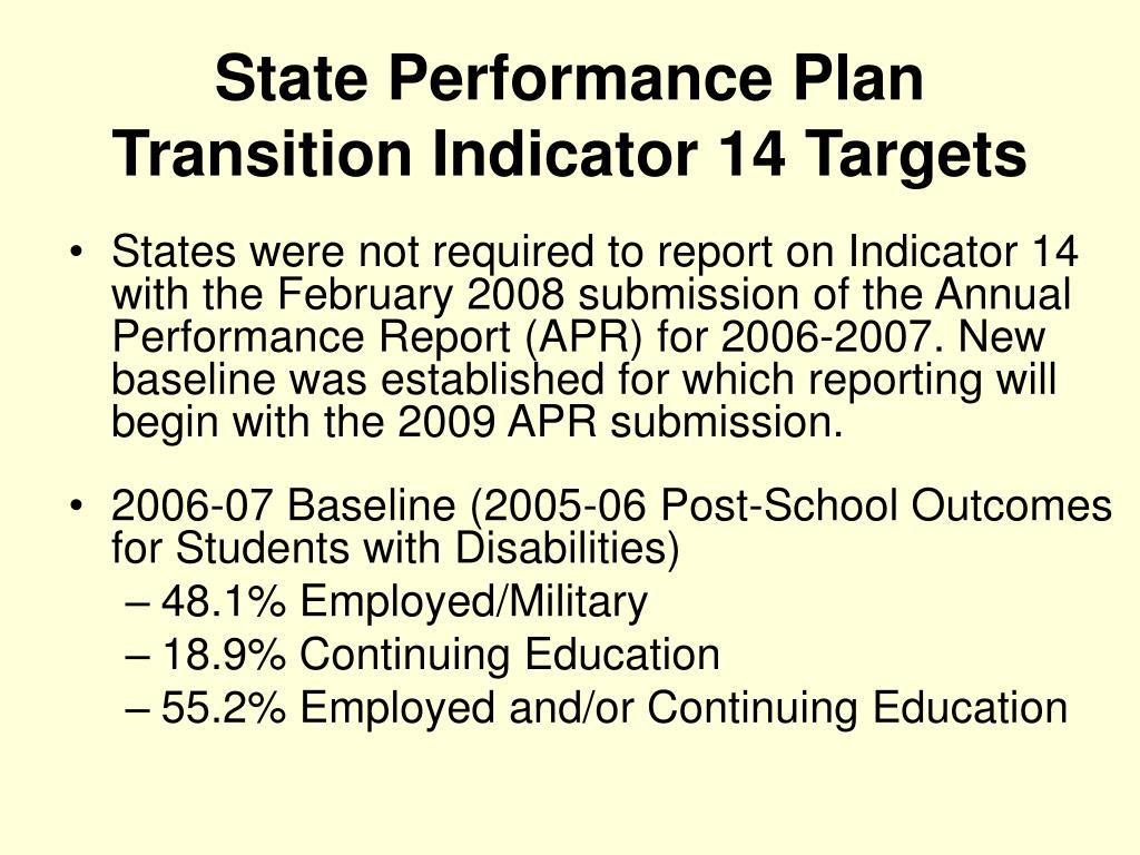 State Performance Plan