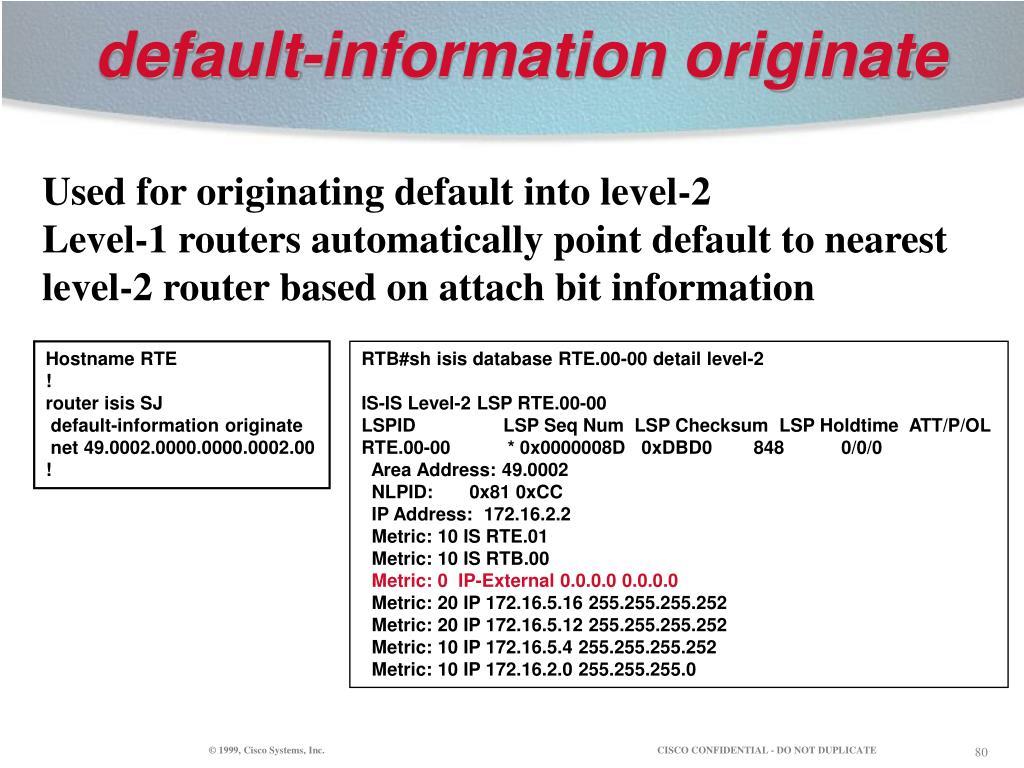 default-information originate