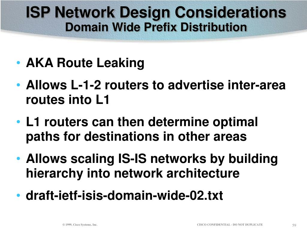 ISP Network Design Considerations