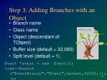 step 3 adding branches with an object