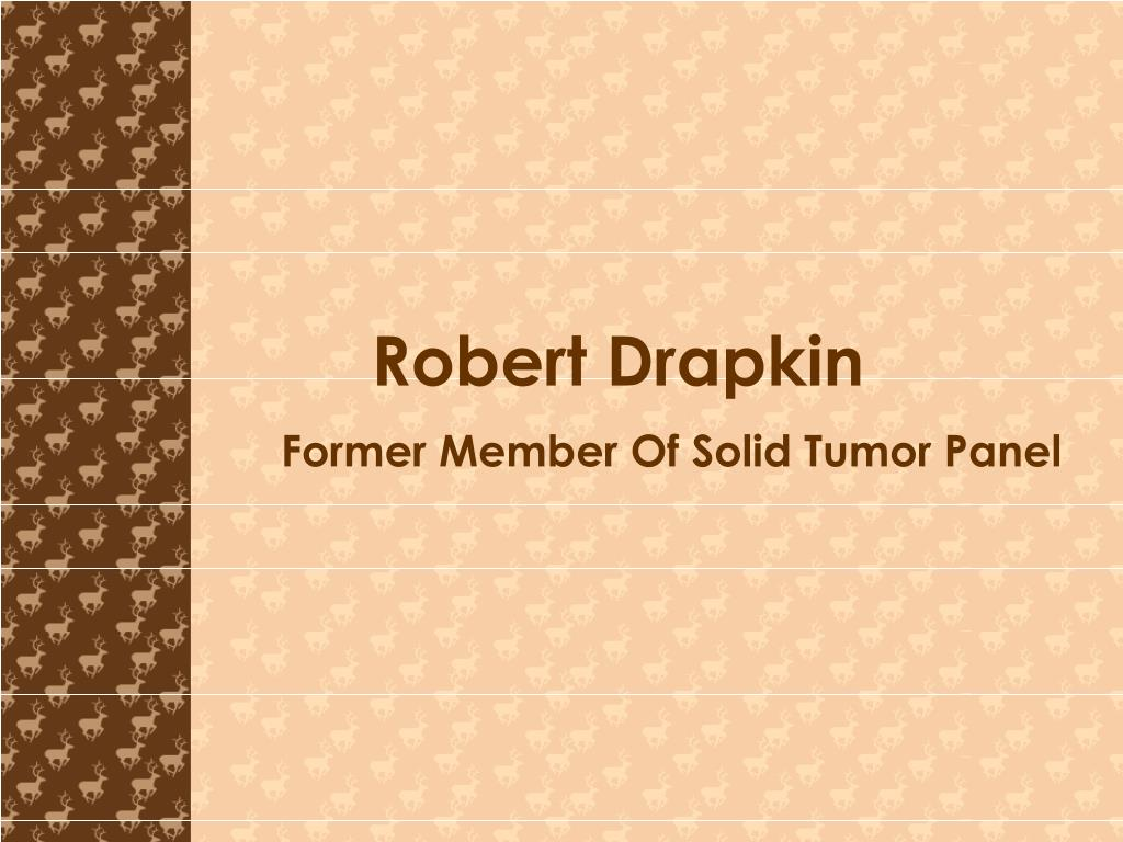 former member of solid tumor panel