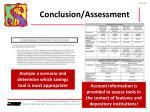 conclusion assessment