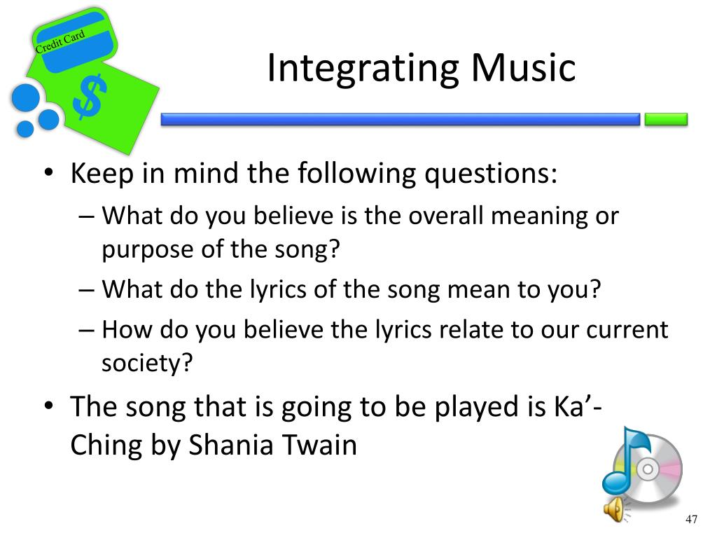 Integrating Music