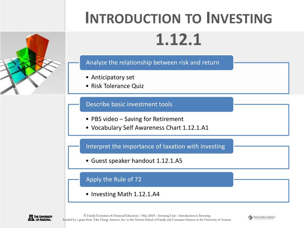 Introduction to Investing 1.12.1