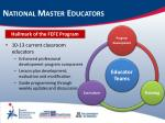 national master educators