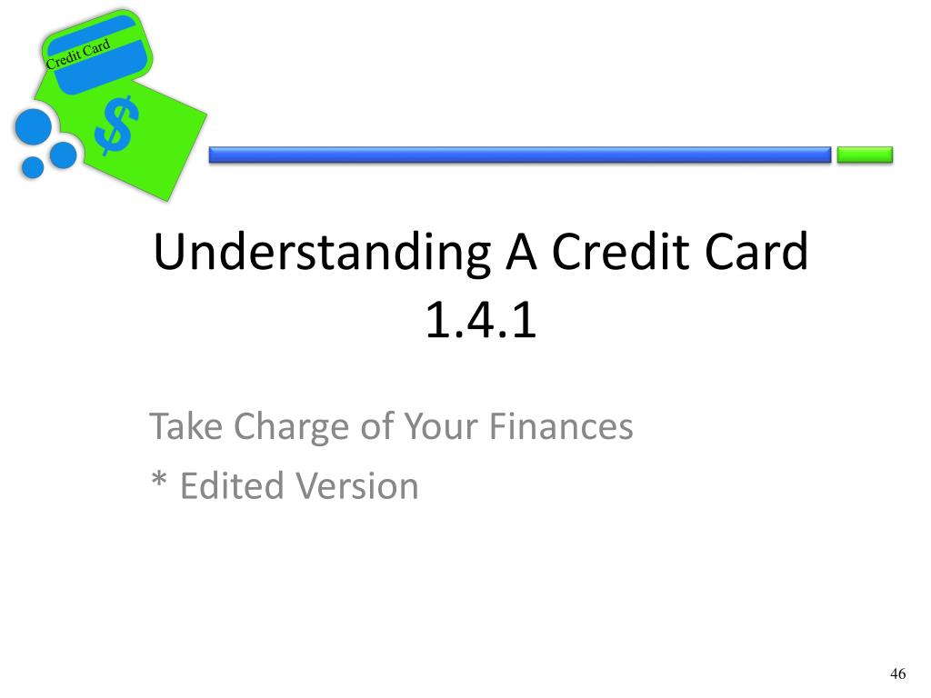 Understanding A Credit Card 1.4.1